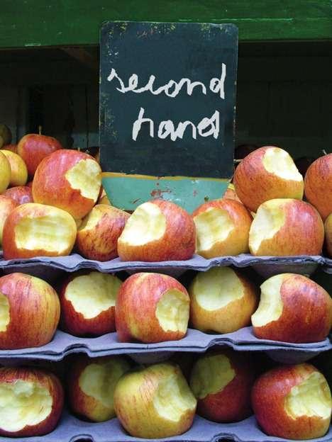 gebrauchte Äpfel