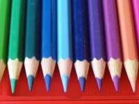 Vivid colored pencils