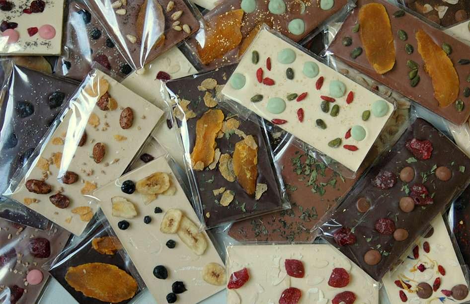 Choklad med torkad frukt ...