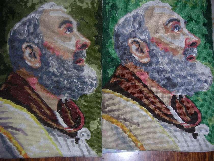 Πάντρ Πιό - Διαγώνια βελονιά - Padre Pio (8×6)