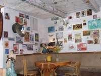 interior of the cafe in Lanckorona