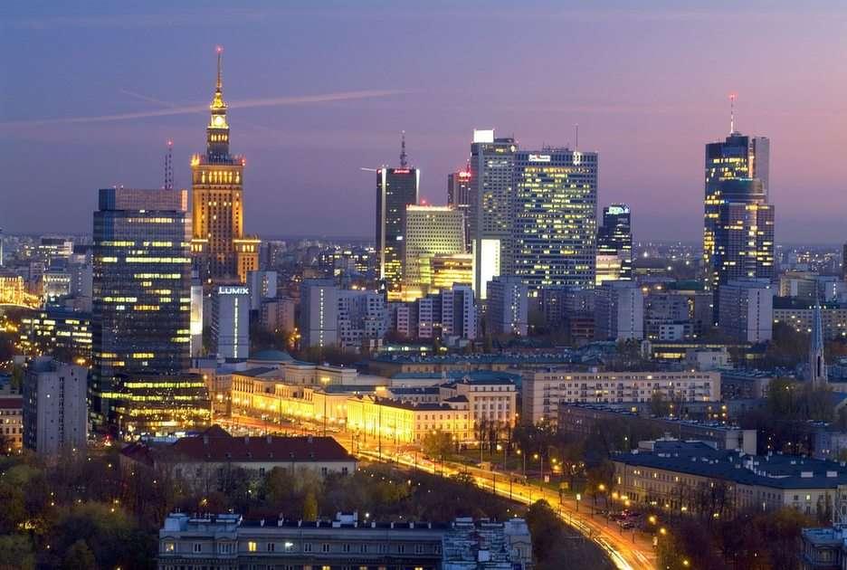 Panorama van Warschau puzzle