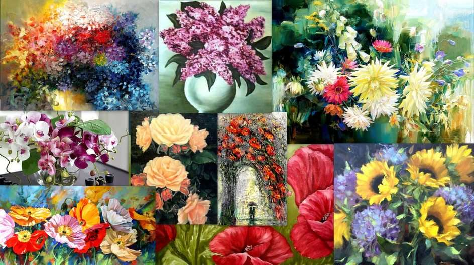 Collage floreale