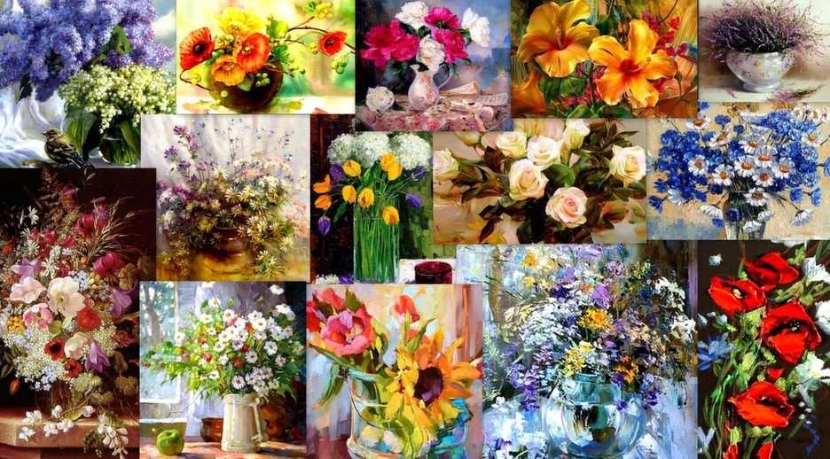 Colagem floral