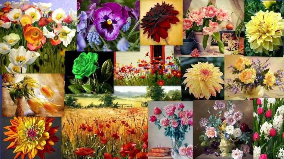 Virágos kollázs