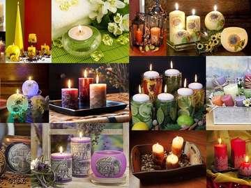 Dekorative Kerzen
