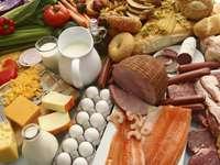 voedingsmiddelen puzzel van foto