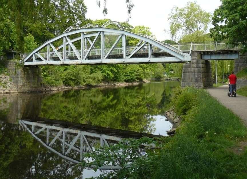 Pyttebron - byggdes som järnvägsbro<br />  i Ängelholm 1904 (6×4)