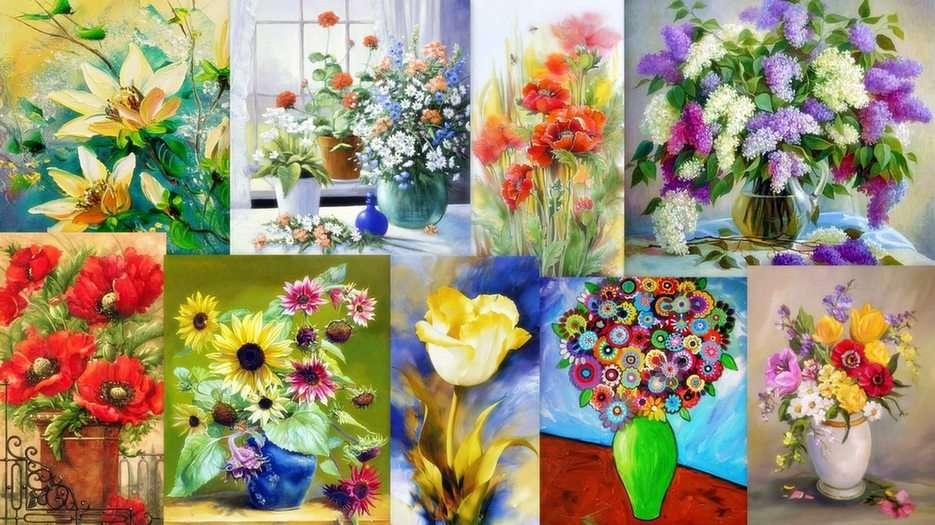 Λουλούδια - ζωγραφική