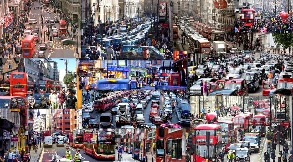 Στους δρόμους του Λονδίνου παζλ από τη φωτογραφία