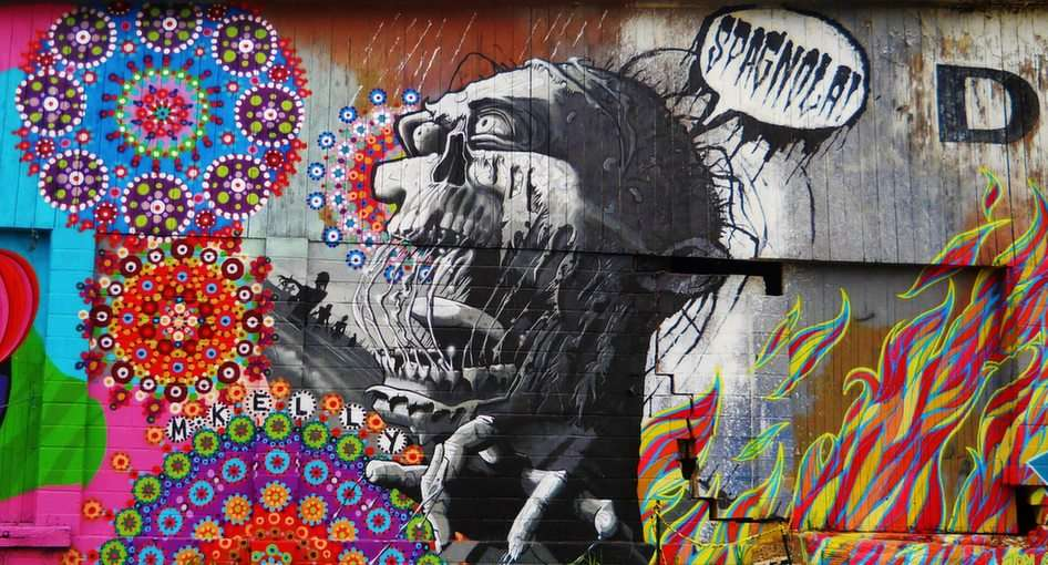 стенопис за графити, Ашвил, Северна Каролина онлайн пъзел