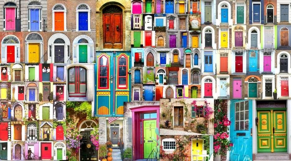 ușă colorată