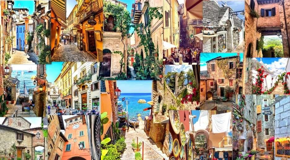 Italské uličky online puzzle