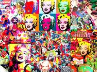 collage of marylin monroe
