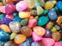 candy colored rocks