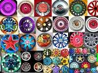 coprimozzi e cerchi colorati