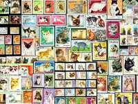 kitties on stamps