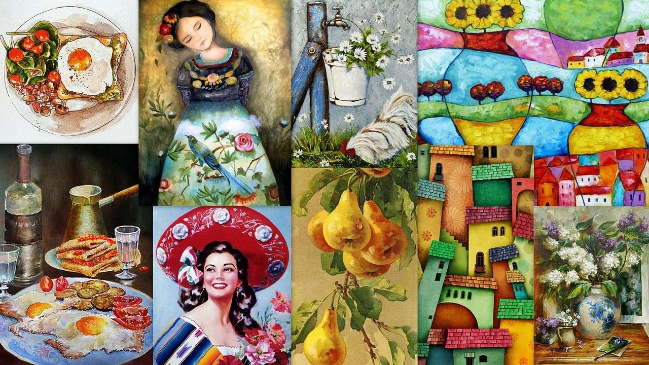 Collage of images - A colorful collage of beautiful images for everyone (19×11)