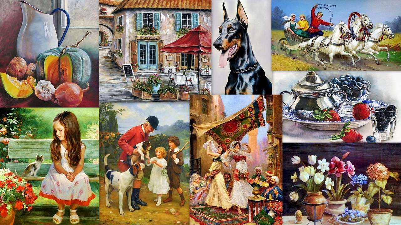 Painter's Mix - Painting in various guises (19×11)