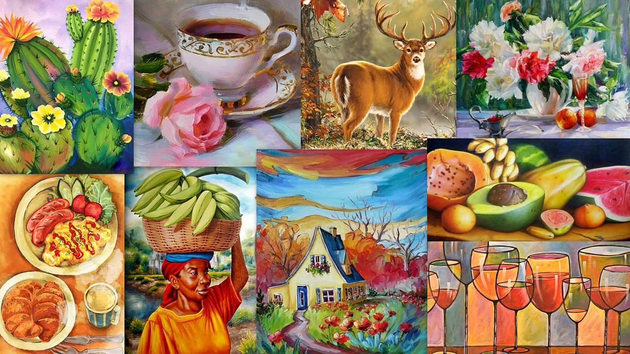 A painter's mix - Painting in various guises (19×11)