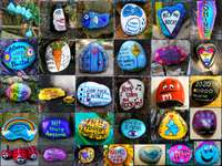 Painted Rock Collage