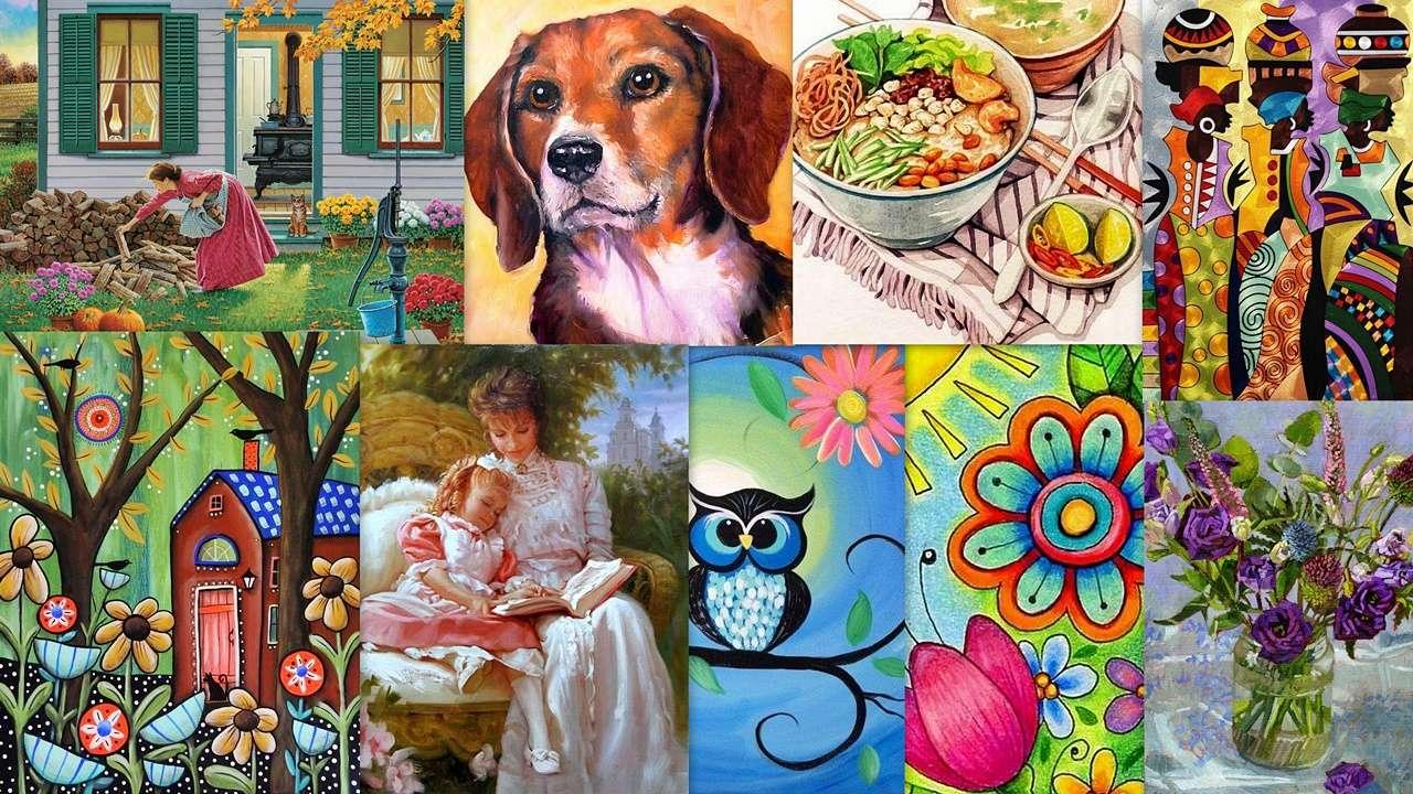 Koláž obrazů - Barevná koláž krásných obrázků pro každého (19×11)