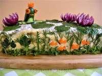 grönsaker smörgås tårta