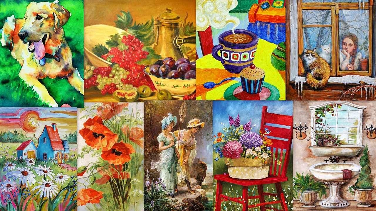 Ένα μείγμα ζωγράφου - Ζωγραφική με διάφορες μορφές (19×11)