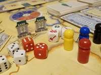 Bordspel met bank