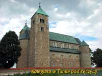 Collegiale kerk in Tuma onder Łęczyca