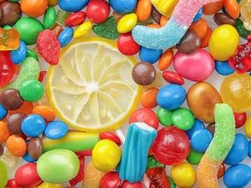 Snoepjes in regenboogkleuren