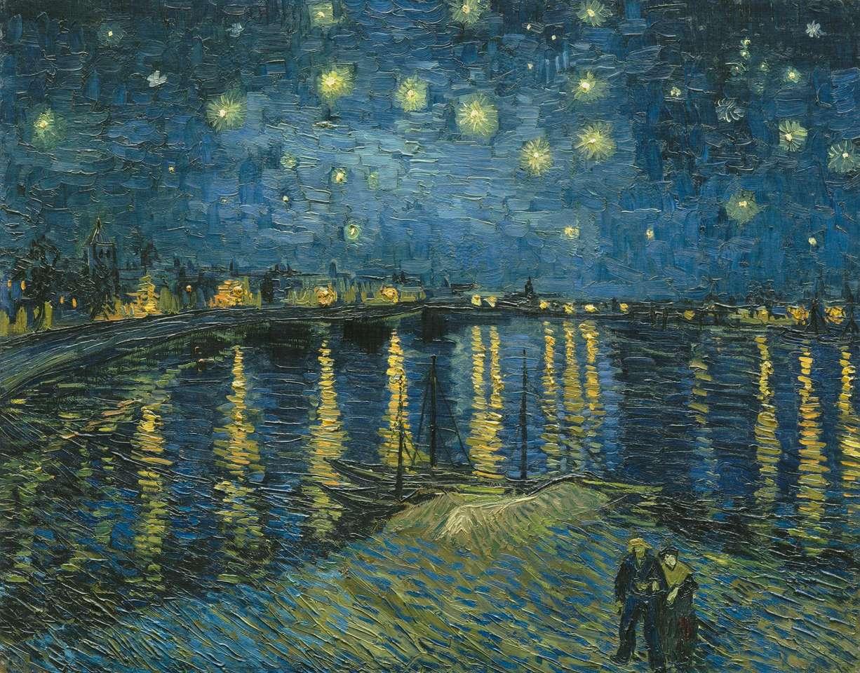 Noche de Gwieździsta sobre Rodan - Van Gogh
