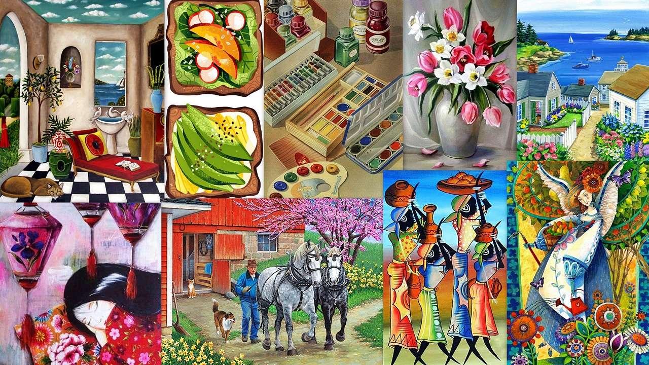 Collage av bilder