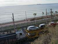 Train and car