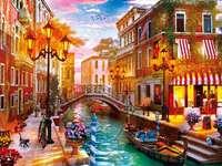 Párizs és Olaszország puzzle fotóból