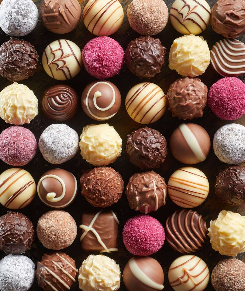 Handmade praline chocolates