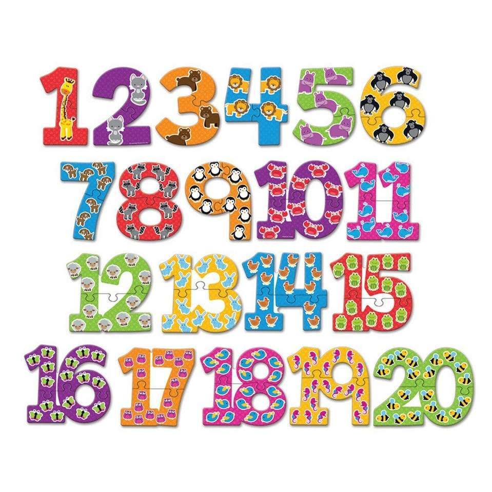 Numbers 1-20 puzzle