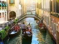 Traditionele Venetiaanse straat