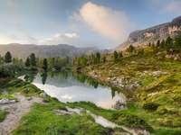 Peisaje naturale Alpii din Italia puzzle din fotografie