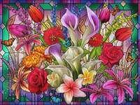 Flowerbomb. puzzle da foto
