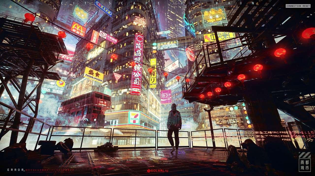 Neon stadslichten