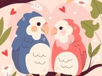 Liefdesvogels Legpuzzel