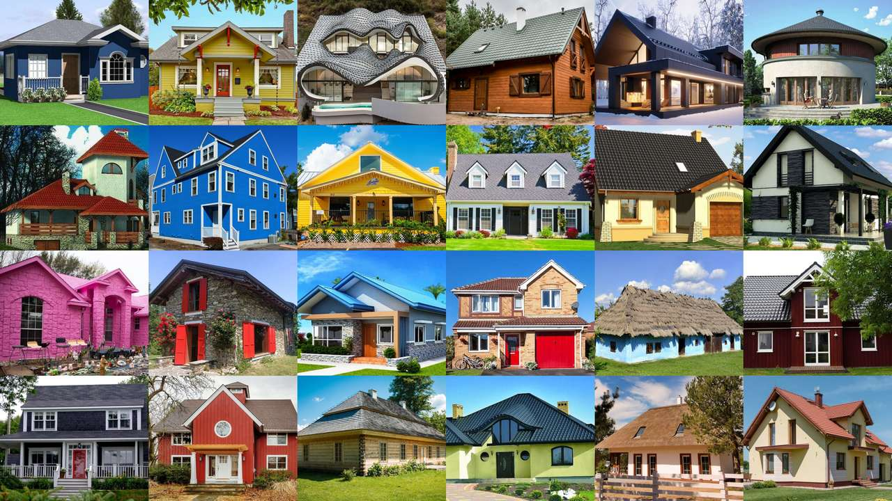 Houses - collage puzzle