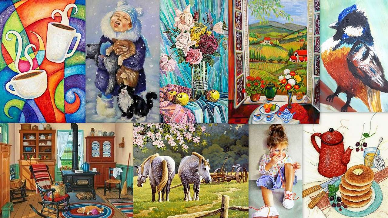 Collage of images online puzzle