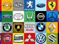 Car brands puzzle from photo